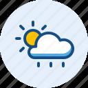 day, rainy, season, weather icon