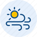 day, season, weather, windy icon