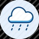 down, pour, season, weather icon