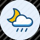 drizzle, night, season, weather icon