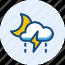 drizzle, night, season, storm, weather icon