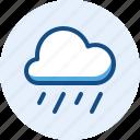 heavy, rain, season, weather icon