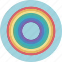 circle, color, forecast, rain, rainbow, sun, weather icon