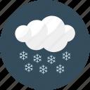 cloud, flake, forecast, night, snow, weather icon