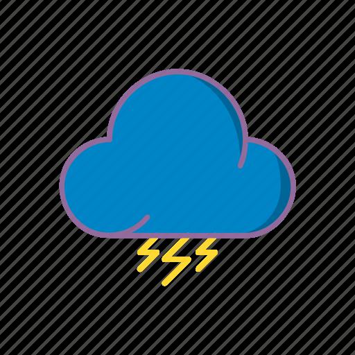 cloud, moon, night, rain, storm, sun, weather icon