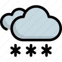 climate, cloudy, forecast, snow, weather, winter icon