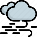 climate, cloud, cloudy, forecast, weather, wind, windy icon