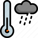 climate, forecast, rain, rainy, temperature, thermometer, weather icon