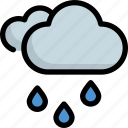 climate, cloudy, forecast, rain, rainy, weather icon