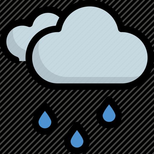 climate, cloudy, forecast, rain, rainy, weather icon