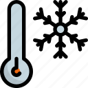 climate, forecast, snow, snowflake, temperature, termometer, weather icon