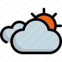 climate, cloud, forecast, sun, sunny, weather icon