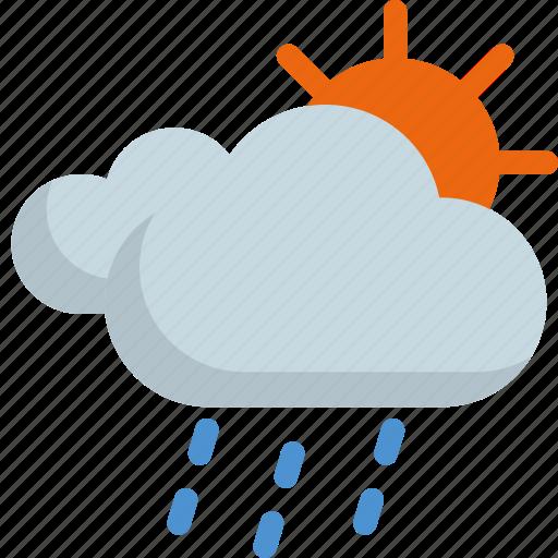 climate, forecast, rain, rainny, sun, sunny, weather icon
