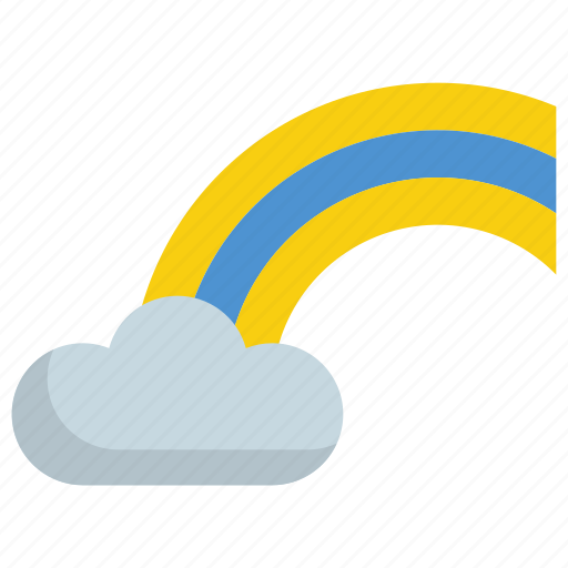 climate, cloud, cloudy, forecast, rainbow, weather icon