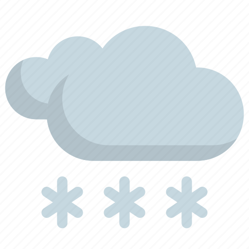 climate, cloud, cloudy, forecast, snow, weather, winter icon