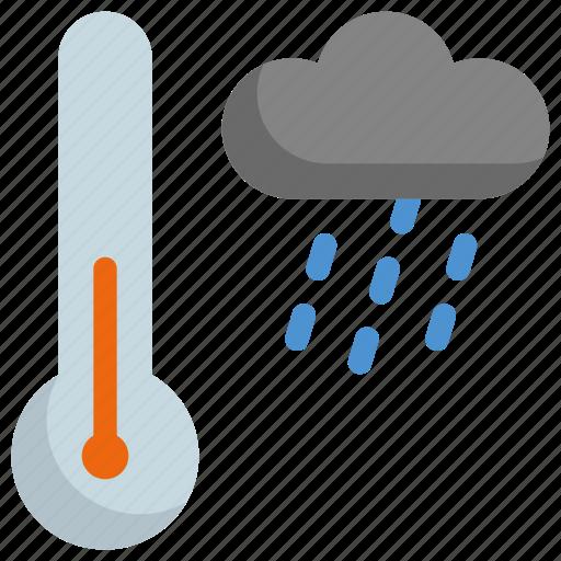 climate, forecast, rain, rainy, temperature, thermometer, weather icon