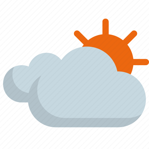climate, cloud, cloudy, forecast, sun, sunny, weather icon