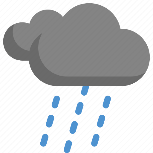 climate, cloudy, forecast, night, rain, rainy, weather icon