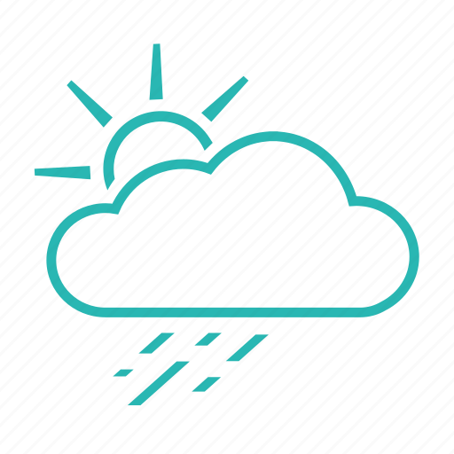 clouds, drizzle, rain, scattered shower, weather icon