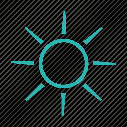 clear sky, daylight, light, sun, sunlight, sunny, sunshine icon
