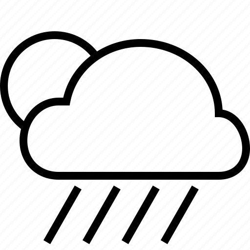 cloud, cloudy, downpour, fullmoon, rain, weather icon
