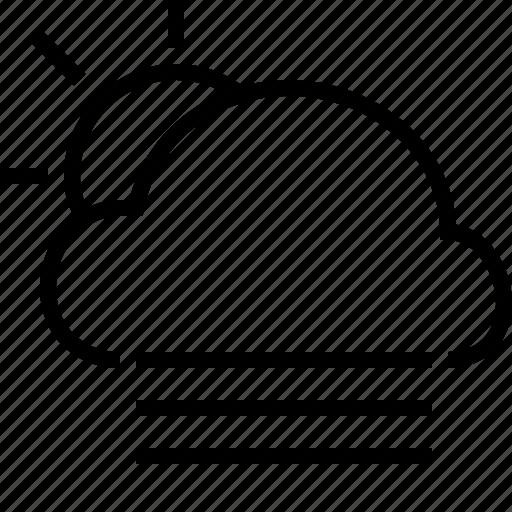 cloud, fog, sun, weather icon