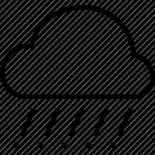 cloud, hail, rain, weather icon