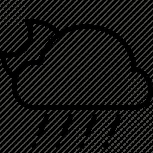 cloud, hail, halfmoon, weather icon
