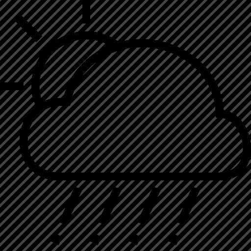 cloud, hail, sun, weather icon