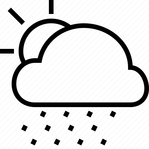 cloud, mistyrain, snow, sun, temperature, weather icon