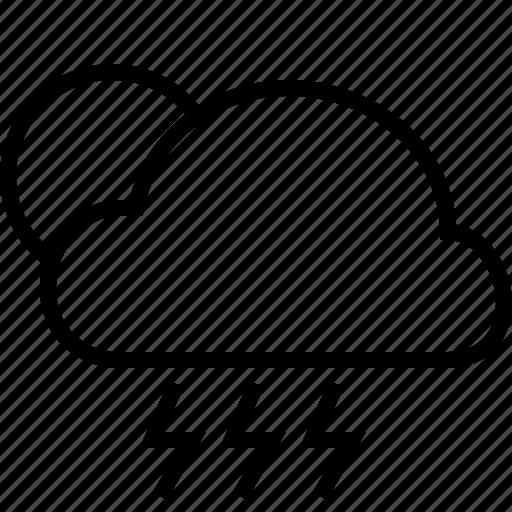 fullmoon, rain, storm, weather icon