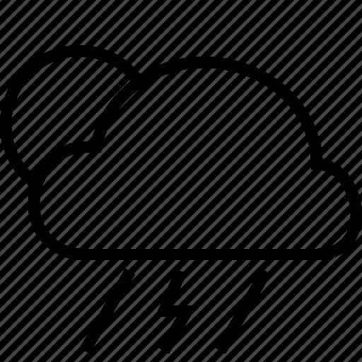 cloud, fullmoon, moon, night, rain, tempest, weather icon