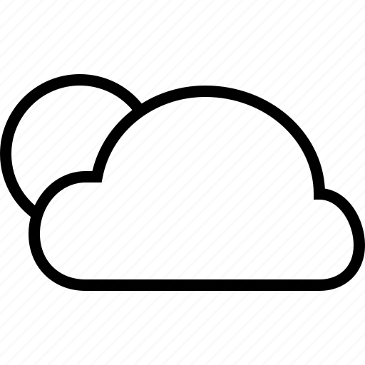 cloud, fullmoon, variable, weather icon
