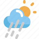 climate, cloud, forecast, rain, sun, weather icon