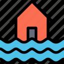 flood, disaster, rain, water