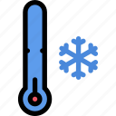 climate, cold, temperature, thermometer, weather icon