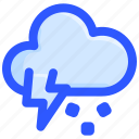 cloud, hail, ice, storm, thunder icon