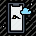 mobile, rainy, weather icon