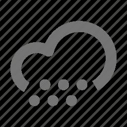 cloud, cloudy, hail, snow icon