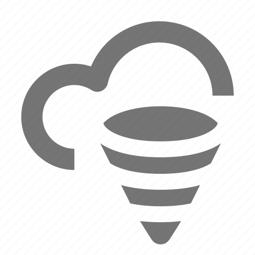 cloudy, forecast, hurricane, outdoors, tornado, weather, wind icon