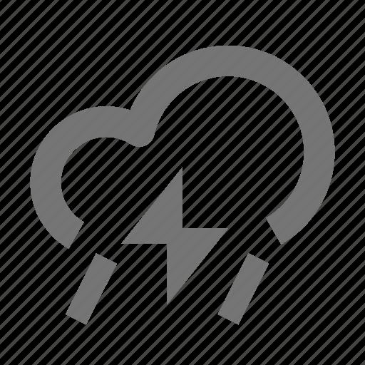 cloud, cloudy, lightning, rain, rainy, storm, thunder icon