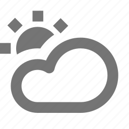 cloud, cloudy, day, sun icon