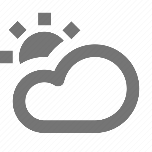 cloudy, day, forecast, outdoors, shinny, sun, weather icon