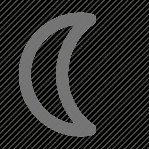 crescent, moon, waning icon