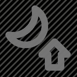 arrow, moon, moonrise, up icon