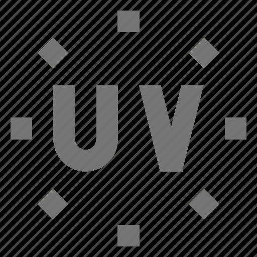 uv, uv rays icon