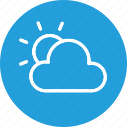 cloud, cloudy, forecast, partly, sun, sunny, weather icon