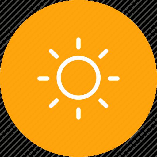 forecast, light, lightning, nature, shine, sun, weather icon
