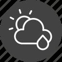 cloud, clouds, cloudy, forecast, rain, sun, weather