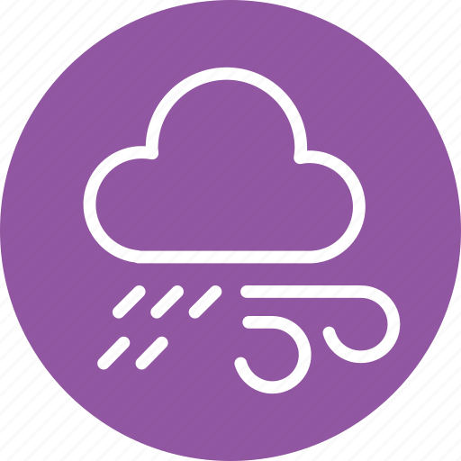 cloud, cloudy, forecast, lightning, rain, weather, wind icon